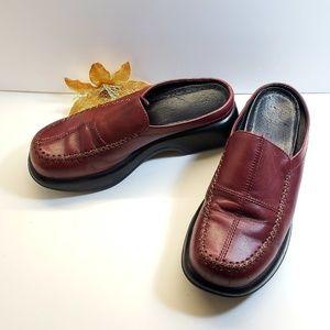 GUC, Dansko Marron Slip on Leather Shoes, 7.5